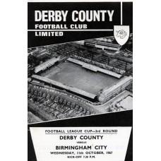 11/10/1967 Derby County v Birmingham City  FLC Round 3