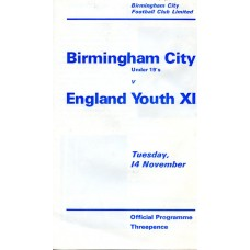 14/11/1967  Birmingham City under 19's v England Youth XI