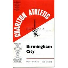02/12/1967 Charlton Athletic v Birmingham City