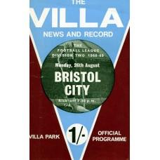 26/08/1968  Aston Villa v Bristol City