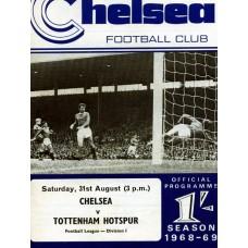 31/08/1968 Chelsea v Tottenham Hotspur