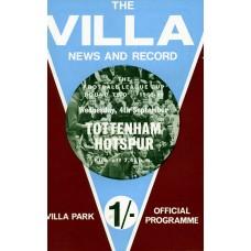 04/09/1968  Aston Villa v Tottenham Hotspur FLC Round 2