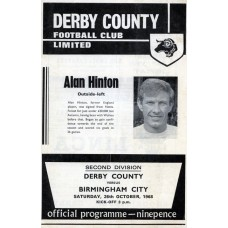 26/10/1968  Derby County v Birmingham City
