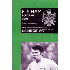 26/12/1968 Fulham v Birmingham City