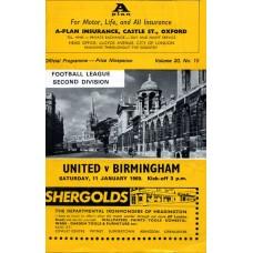 11/01/1969  Oxford Utd v Birmingham City