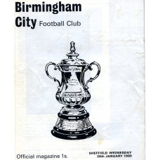 28/01/1969 Birmingham City v Sheffield Wednesday FA Cup Round 4 Replay