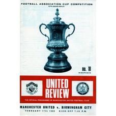 17/02/1969  Manchester Utd v Birmingham City  FA Cup Round 5 Replay