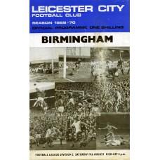 09/08/1969  Leicester City v Birmingham City