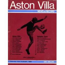 23/08/1969 Aston Villa v Swindon Town