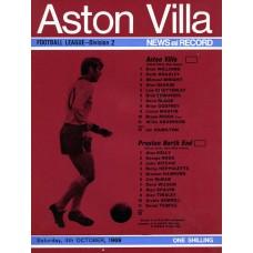 04/10/1969  Aston Villa v Preston North End