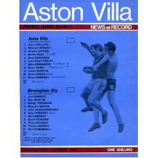 18/10/1969  Aston Villa v Birmingham City
