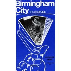 15/09/1970  Birmingham City v Colchester  FL Cup Round 2 Replay