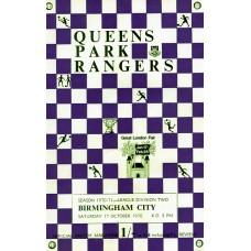 17/10/1970  QPR v Birmingham City
