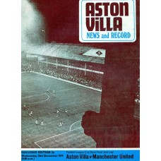 23/12/1970  Aston Villa v Manchester Utd  FL Cup Semi-final 2nd leg