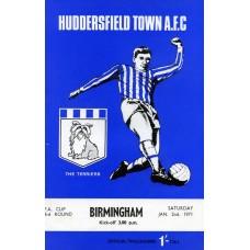 02/01/1971  Huddersfield Town v Birmingham City  FA Cup Round 3
