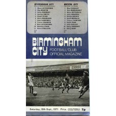 18/09/1971 Birmingham City v Bristol City