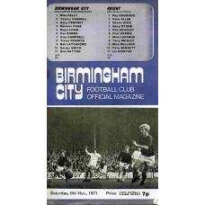 06/11/1971 Birmigham City v Leyton Orient