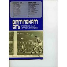 29/01/1972  Birmingham City v Swindon Town