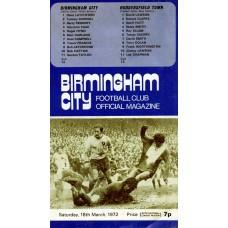 18/03/1972  Birmingham City v Huddersfield Town  FA Cup Round 6