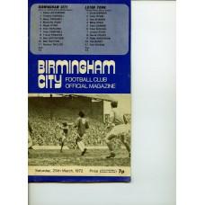 25/03/1972  Birmingham City v Luton Town