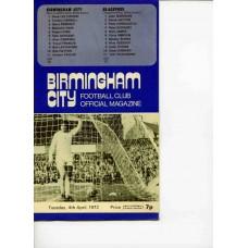 04/04/1972  Birmingham City v Blackpool