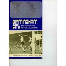 08/04/1972  Birmingham City v Millwall