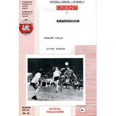 02/05/1972  Leyton Orient v Birmingham City