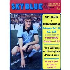 28/10/1972  Coventry City v Birmingham City