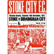 18/11/1972  Stoke City v Birmingham City