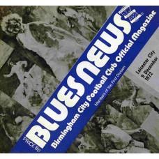 09/12/1972  Birmingham City v Leicester City