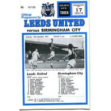 16/12/1972  Leeds Utd v Birmingham City