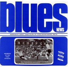 16/04/1974 Birmingham City v Burnley