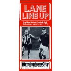 26/10/1974  Sheffield Utd v Birmingham City