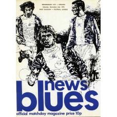 02/11/1974  Birmingham City v Chelsea