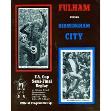 09/04/1975  Fulham v Birmingham City  FA Cup Semi-Final Replay