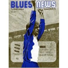 09/09/1975 Birmingham City v Leyton Orient - League Cup 2