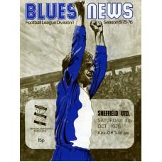 04/10/1975 Birmingham City v Sheffield Utd