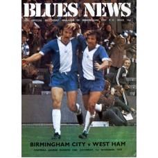 01/11/1975 Birmingham City v West Ham Utd