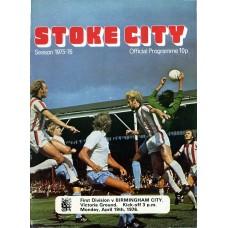19/04/1976  Stoke City v Birmingham City