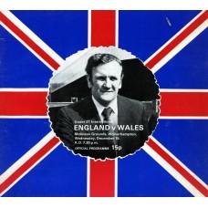 15/12/1976  England v Wales  Under 21 International