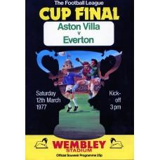 12/03/1977  Aston Villa v Everton  FL Cup Final
