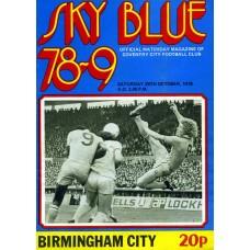 28/10/1978  Coventry City v Birmingham City