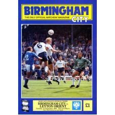 01/09/1990  Birmingham City v Leyton Orient