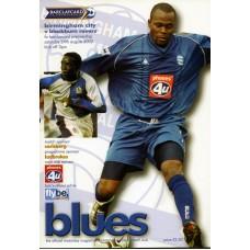 24/08/2002  Birmingham City v Blackburn Rovers