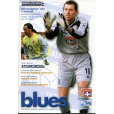 12/01/2003  Birmingham City v Arsenal
