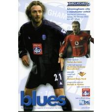 04/02/2003  Birmingham City v Manchester Utd