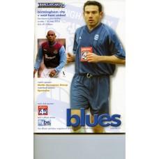 11/05/2003  Birmingham City v West Ham Utd