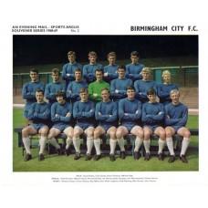 Birmingham City FC  Sports Argus Souvenir Team Photograph 1968-69 No2